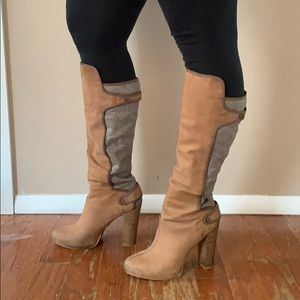 Rachel Roy knee high leather boots